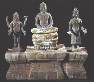Khmer Bronze Triad