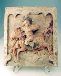 Architectural Tile Featuring a Polo Player