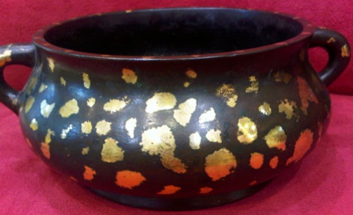 Ming Gold-Splashed Kuei Bronze Censer