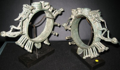 Pair of Ceremonial Bronze Ri