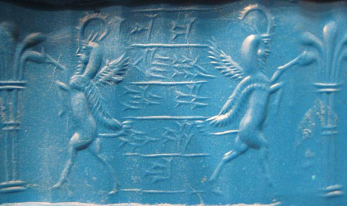 Neo-Elamite Chalcedony Cylinder Seal