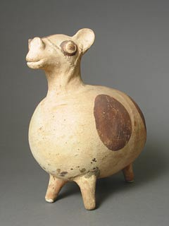 Chancay Sculpture of a Male Llama