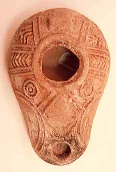 Talmudic Terracotta Oil Lamp