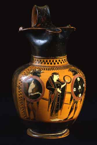 Attic Black-Figured Oinochoe