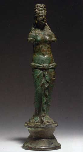 A Roman Bronze Figure of Aphrodite