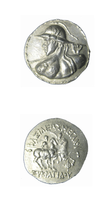 Bactrian Silver Tetradrachm of King Eukratides