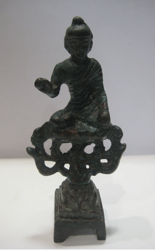 Tang Votive Statuette of a Seated Buddha