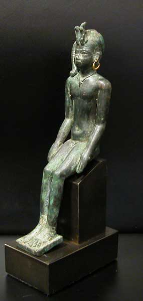 Bronze Portrait of a Kushite Pharaoh as a Child God