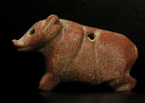 Stone Pendant in the Shape of a Pig