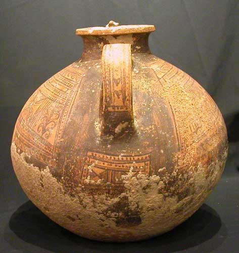 Painted Earthenware Ewer