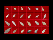 Set of Twenty-Four Neolithic Flint Arrowheads