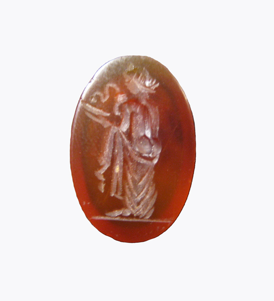 Roman Carnelian Intaglio depicting the Goddess Hygeia