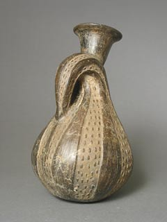 Chimu Blackware Vessel in the Form of a Gourd