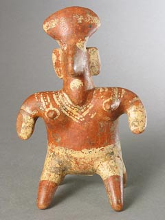 Nayarit Terracotta Sculpture of a Seated Woman