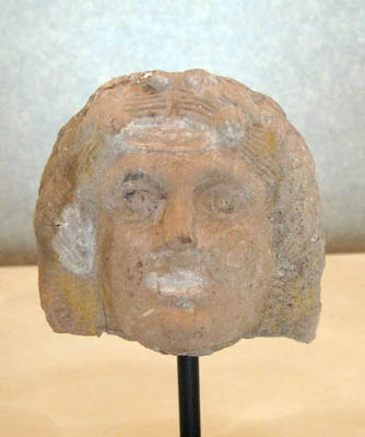 Greco-Roman Terracotta Mask Depicting Dionysius