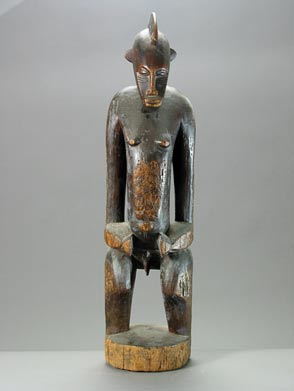 Senufo Wooden Sculpture of a Man