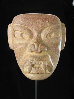 Olmec Stone Mask of a Were-Jaguar