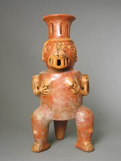 Vessel in the Form of a Seated Saurian Deity