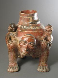 Terracotta Vessel in the Form of a Monkey