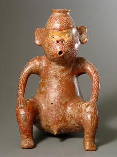Monkey Effigy Vessel