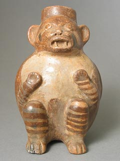 Terracotta Monkey Effigy Vessel