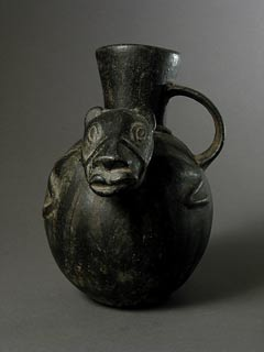 Chimu Blackware Animal Effigy Vessel