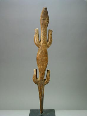 Bobo Wooden Sculpture of a Crocodile