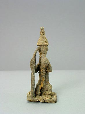 Yoruba Metal Alloy Ogboni Sculpture of a Man