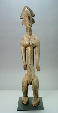 Marka Wooden Sculpture of a Standing Woman