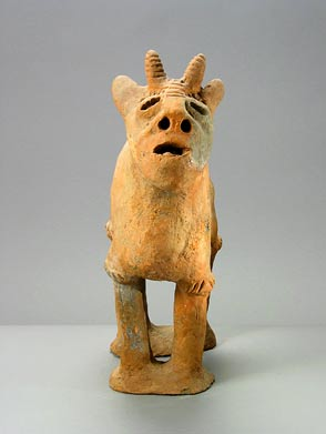 African Art / Dakakari Terracotta Sculpture of a Goat