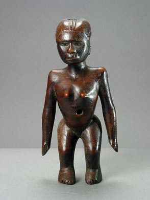 Sukuma Wooden Sculpture of a Standing Woman