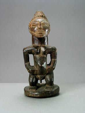 Hemba Wooden Janiform Kabeja Sculpture