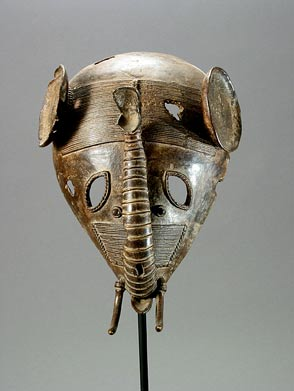 Baule Brass Elephant Mask
