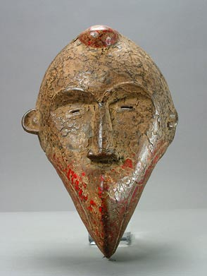 Dan Wooden Polychrome Mask