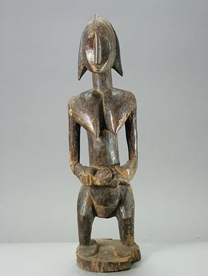 African Art / Dogon Wooden Female Ancestor Figure