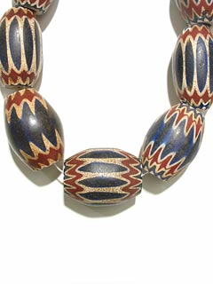 Venetian Glass Chevron Bead Necklace