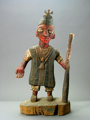 Yoruba Polychrome Sculpture of an Oba