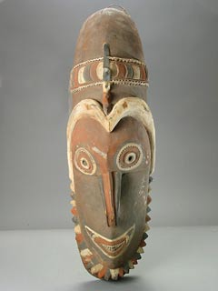 Sepik River Wooden Polychrome Mask