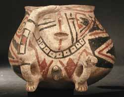 Casas Grandes Polychrome Pot with Two Guardians