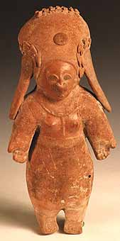 Jama Coaque Terracotta Sculpture of a Praying Woman