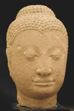 Ayutthaya Sandstone Head of the Buddha