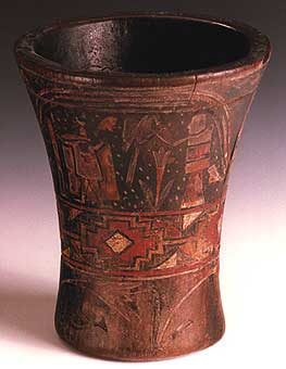 Incan Wooden Ceremonial Beaker