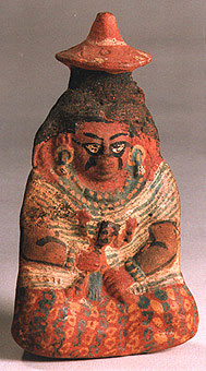 Mayan Whistle in the Form of a Seated Woman