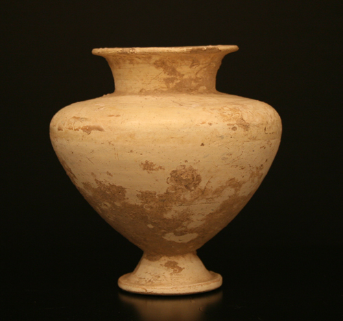 Middle Bronze Age Terracotta Footed Vessel