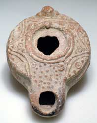 Talmudic Oil Lamp of the Late Roman Period