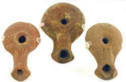Three Hellenistic Period Oil  Lamps