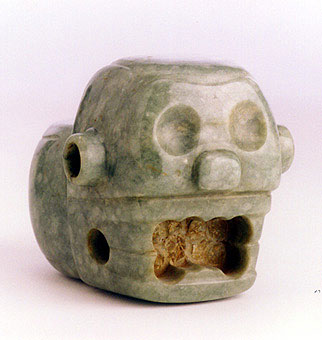 Atlantic Watershed Jade Mace Head in the Form of a Skull