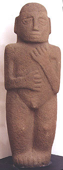 Stone Peg-Base Male Figure