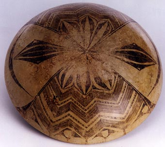 Zacatecas Painted Terracotta Bowl
