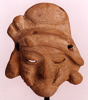 Mayan Miniature Mask of an Old Woman